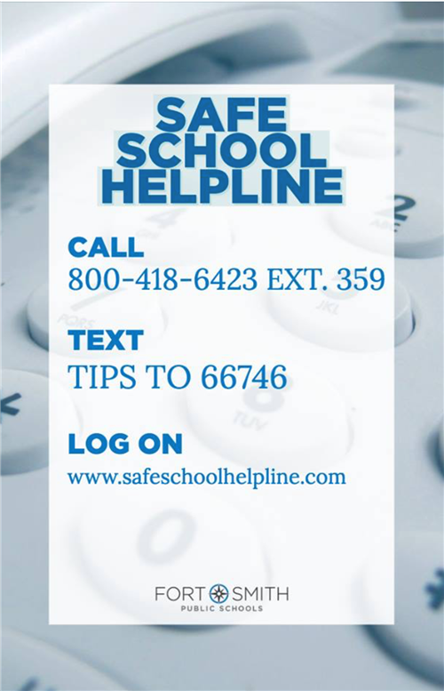 Call 1-800-418-6423 extension 359 for the Safe School Helpline