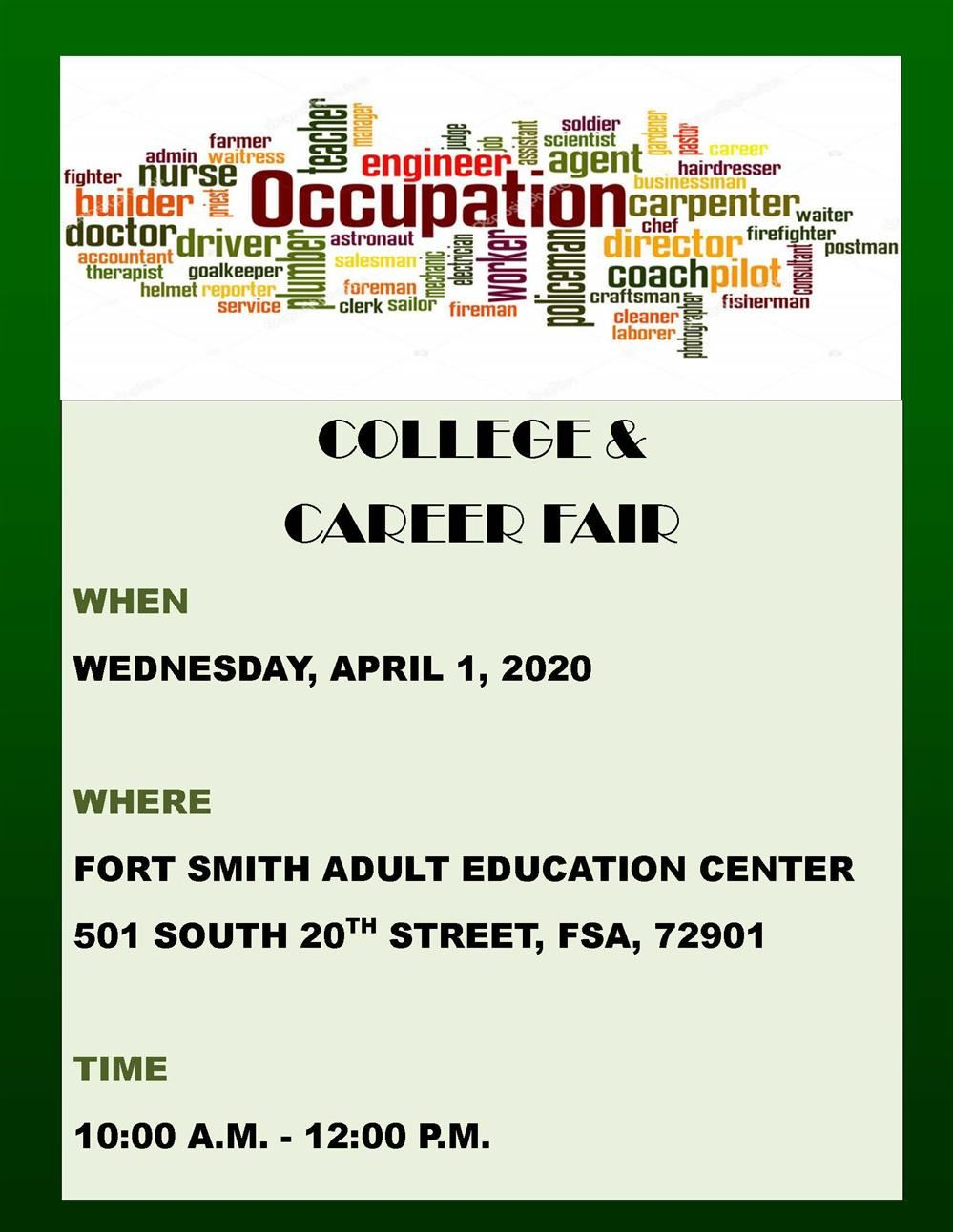 College & Career Fair Coming Soon!!