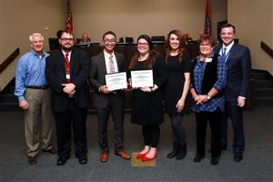 November School Board Recognitions and School Board members