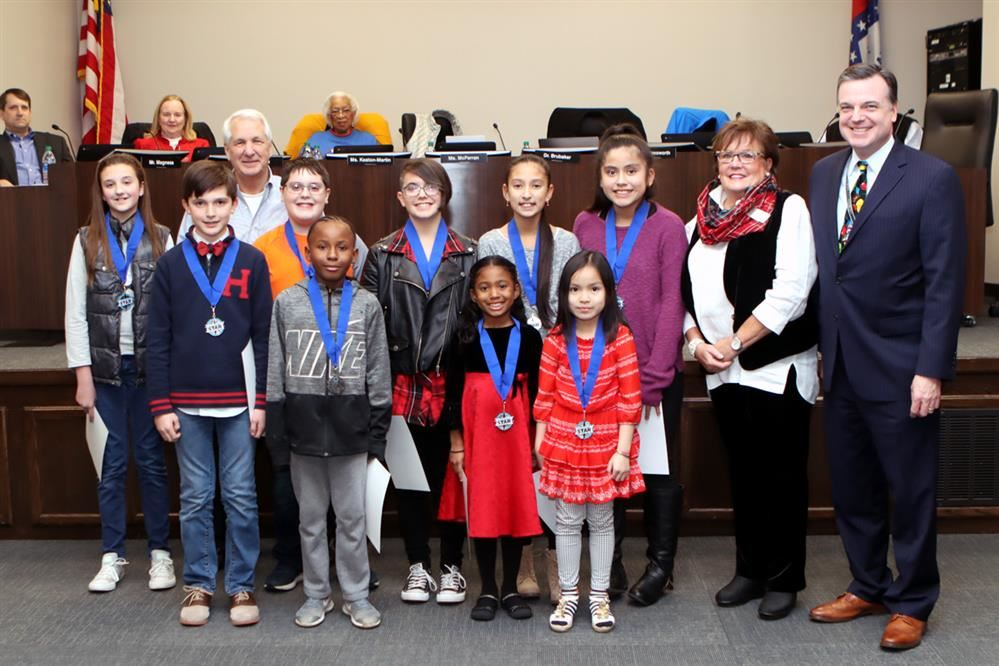 Star students, School Board Members and Superintendent of Schools