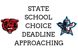 State School Choice Deadline Approaching, Grizzly Logo, Maverick Logo