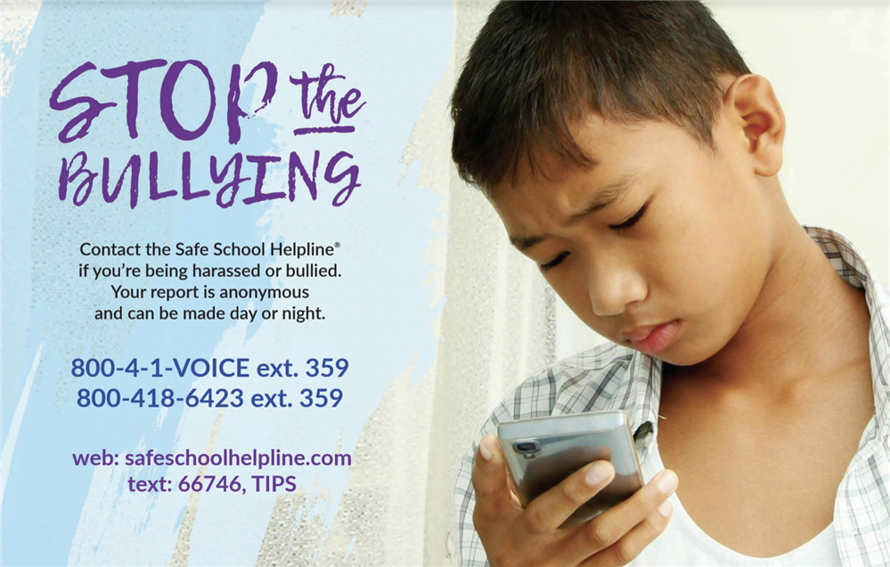 speak up bullying poster
