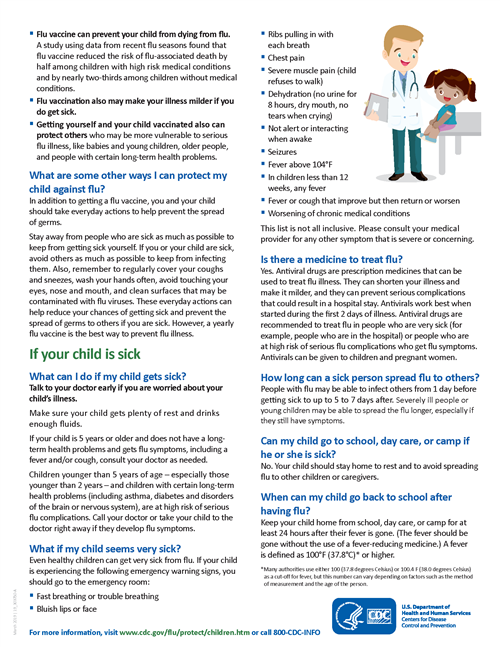 Flu guide for parents page 2