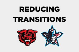 Northside and Southside High School Logos Reducing Transitions